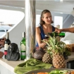 Open air drinks and nibbles on Red Sea Aggressor II