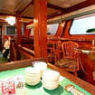 Solmar V's large saloon & dining area has lots of seating options