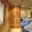 Cassiopeia's main deck queen bed cabin