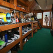 The dedicated camera room aboard liveaboard, MV Pindito