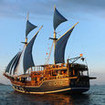 Another view of the Indonesian liveaboard Felicia, in Komodo