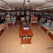 Galapagos dive briefing in seated comfort in Galapagos Master's saloon