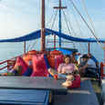 Enjoy the sundeck of Wicked Diving's Komodo Floating Hostel
