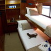 Deluxe twin/double bed cabin aboard the M/V Mermaid II