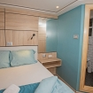 Upper deck double bed cabin