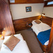 Twin bed cabin on the lower or Iguana deck of the Eric liveaboard