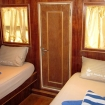 Twin cabin on upper deck with seaview windows