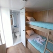 Galapagos scenery can be viewed from this twin bunk bed cabin