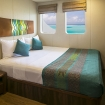 Main deck double room with TV and seaview windows