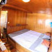 Master double bed cabin on Mastro Aldo's main deck