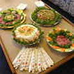 A typical lunch spread onboard MV Islander