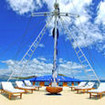 Divers can relax under cobalt blue skies on the Philippine Siren sun deck