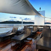The sundeck with views of Palau