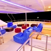 The upper deck open air lounge area