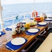 Enjoy the cooling Philippine sea breeze from the MV Seadoors covered open air deck