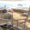 M/Y Saphir's covered open air deck