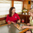 Enjoy the comfortable saloon on your cruise