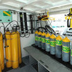 M/V Sea Escape offers nitrox fills for enriched air divers