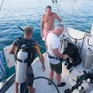 Getting ready to dive in the Bahamas on your charter