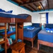 Deluxe twin or double bed cabin aboard the diving liveaboard, KLM Mari