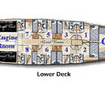 Cabin layout on the lower deck
