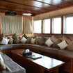 Enough cushions? Comfort is a priority on M.S.Y. Damai II