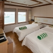 Upper deck cabin in twin bed configuration