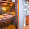 A lower deck en-suite double bed cabin, aboard the Ondina