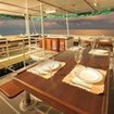 Open air dining in Indonesia aboard the KM Black Manta liveaboard