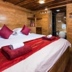 Master double bed cabin on La Galigo