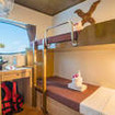 Deluxe twin bunk bed cabin for your Thailand diving cruises