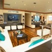 Comfortable saloon for your Galapagos diving tour on M/V Majestic Explorer