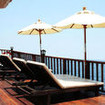 Guests can enjoy the beautiful Thailand scenery from the loungers