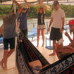 Hammocks and sun loungers onboard Scuba Adventure