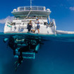The dive platform provides easy access to Cairns' dive sites