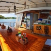 Open-air dining area on your scuba diving liveaboard tours
