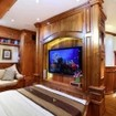 The grand Master double bed suite aboard the Adelaar