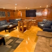The comfortable saloon with entertainment facilities