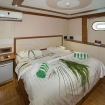 Standard double bed cabin with airconditioning and mini fridge