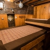 A Standard twin bunk bed cabin