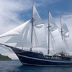 Dewi Nusantara sailing the waters of Raja Ampat