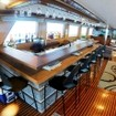 Grab a stool at the liveaboard's well stocked bar
