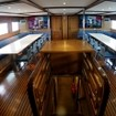 Air-conditioned dining aboard the Maldives Master liveaboard