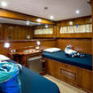 Standard twin bed cabin onboard the Saphir