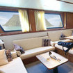 The Raja Ampat Aggressor's comfortable saloon