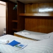 A twin bed deluxe cabin