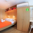 Main deck double bed cabin