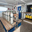 Red Sea liveaboard, Saphir's spacious and well organised dive deck