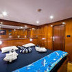 MY Saphir's upper deck Honeymoon cabin