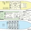 Layout of the 3 decks of this liveaboard